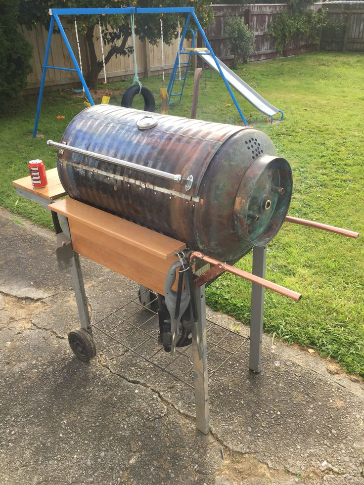 Photo of the finished #charcoal BBQ
