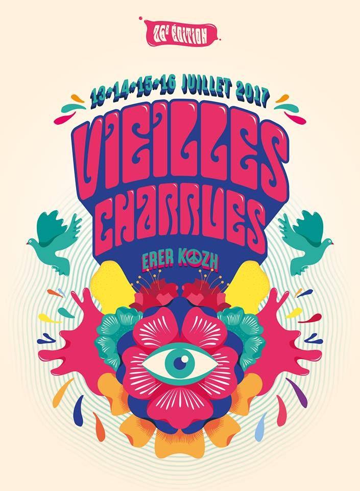 Festival Les Vieilles Charrues 2017 premières annonces... #poster #affiche