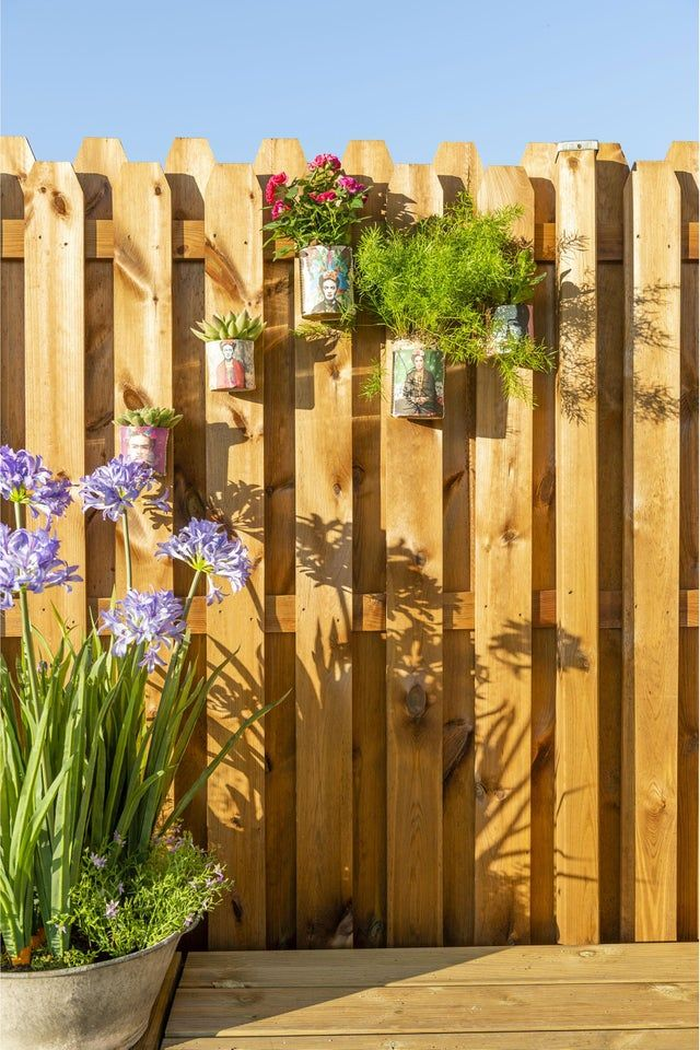 Panneau Bois Occultant Ugo L 180 X H 180 Cm Marron Panneau Bois Cloture Jardin Bois Panneau Jardin