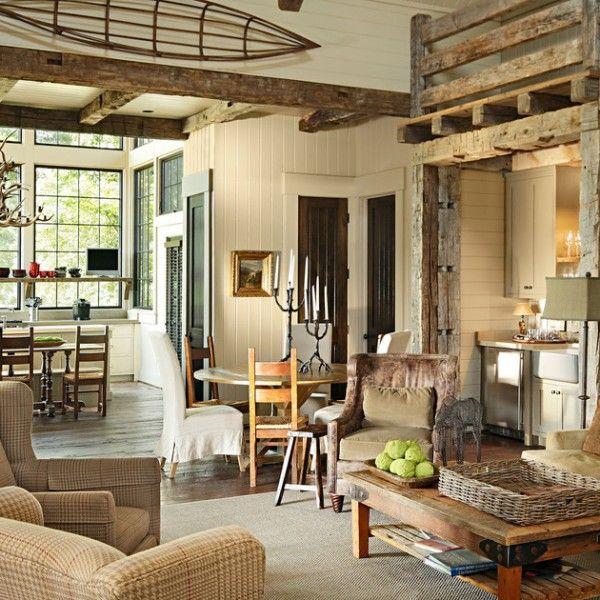 Treppengel nder holz rustikal for Haus rustikal modern