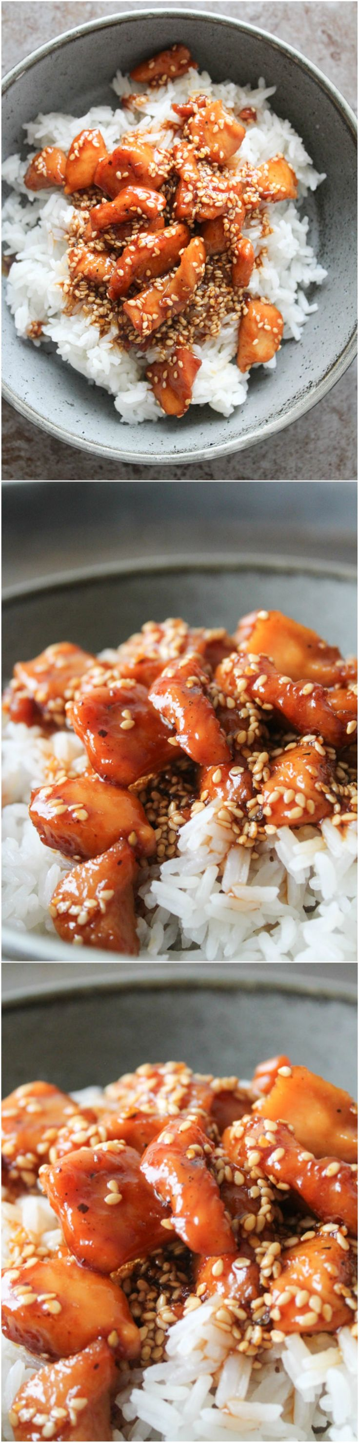 Orange and honey sesame chicken