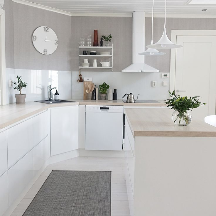 White kitchen, Scandinavian home, Kitchen @c_u_c_k_o_o