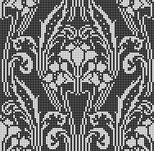 Ravelry: taith's wallpaper curtain free Ravelry download - chart only