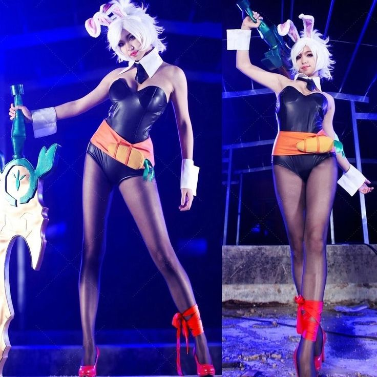Anime League of Legends Bunny Riven Cosplay Costumes Party Fancy ...