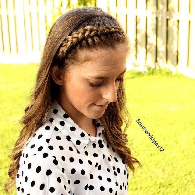 A Cute Braided Headband , Dutchbraid