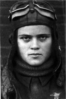 Soviet female pilot .The Navigator of the 46-th Guards night bomber Aviation Regiment, army Guards Senior Lieutenant Evgeniya Rudneva. 645 night combat missions On the night of April 9, 1944 year died while performing combat jobs city of Kerch, Crimea. The USSR