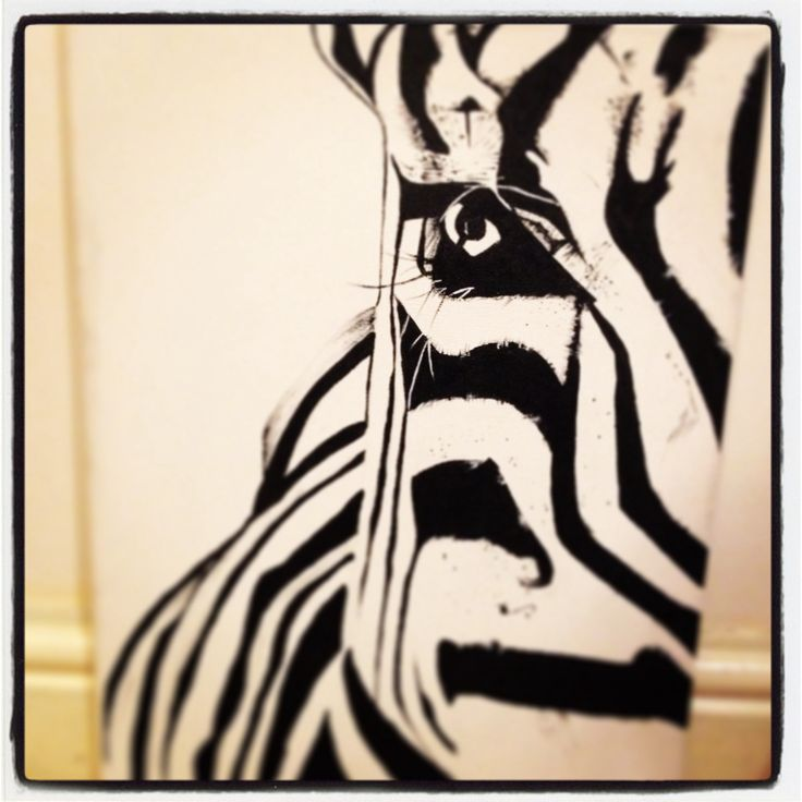 My zebra painting #zebra #art #painting