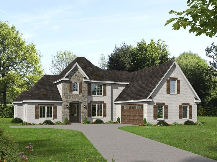 062h 0236 Luxury House Plan 3372 Sf In 2020 Country Style House Plans Luxury House Plans House Plans