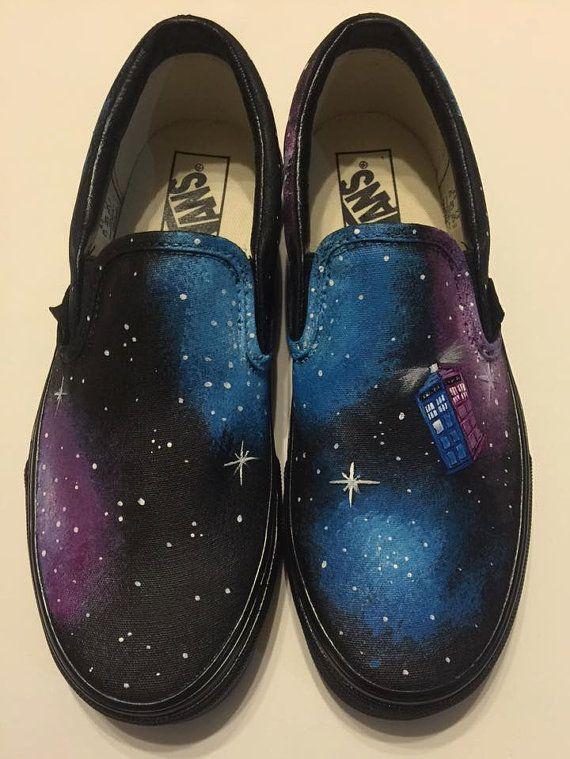 TARDIS Galaxy Schuhe von Because42CustomKicks auf Etsy