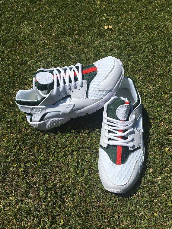5e4716f44d78 Custom Nike Huarache Sneakers Hand Painted Embroidered Shoes