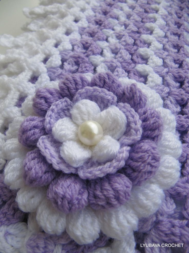 "PDF Crochet 3D Flower Pattern, Beautiful Crochet Flower Pattern ""Lilac Mosaic"", Cluster Stitch Pattern, Lyubava Crochet Pattern number 75, via Etsy."