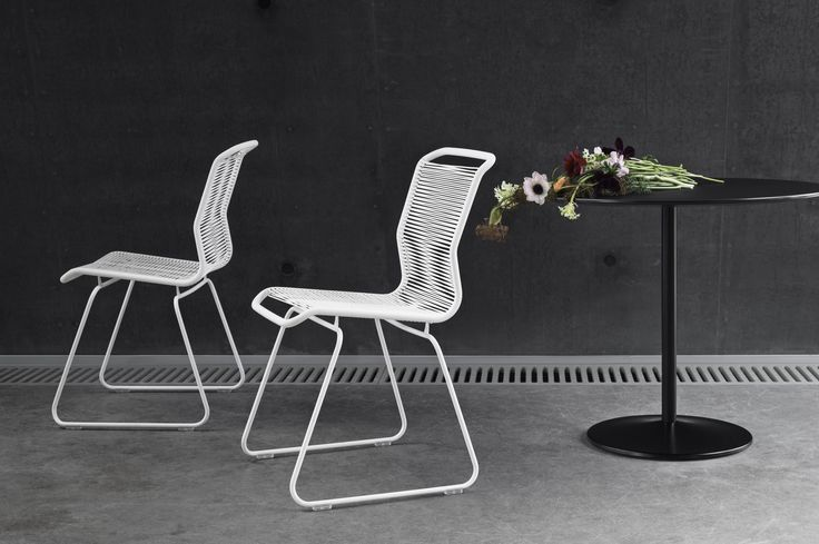 Panton One Dining chair and Panton Table.