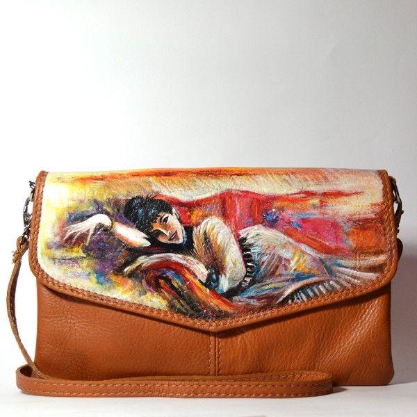 Pochette in PELLE dipinta  – La Dame – Boldini