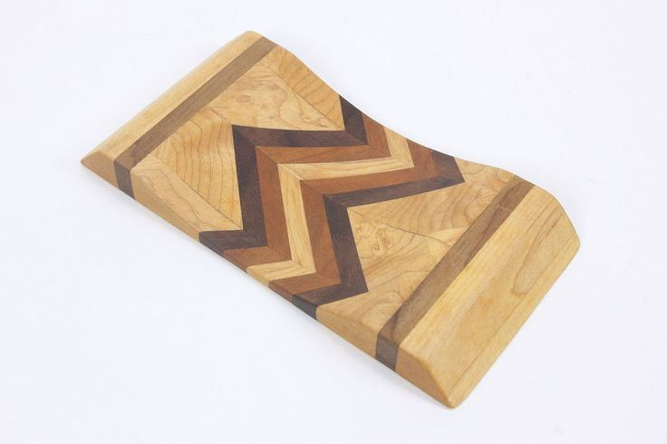 Artisan-Made Wrist Rest Mousing Wrist Cradle Handcrafted Exotic Wood Zig Zag
