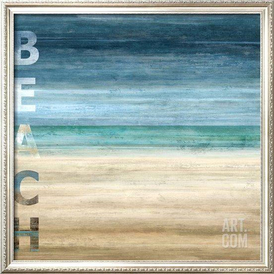 Ocean Blue and Beach Art