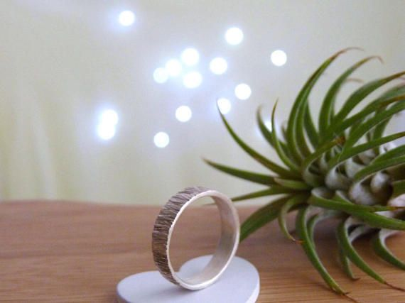 Male engagement ring  Mens Hammered Alternative Rustic