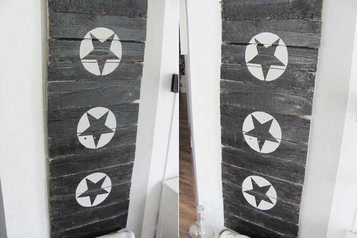 aus altem holz und farbe ein schild basteln schilder und spr che pinterest basteln. Black Bedroom Furniture Sets. Home Design Ideas