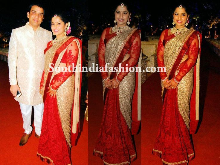 Dil Raju Daughter Hanshitha Reddy in her Engagement Saree