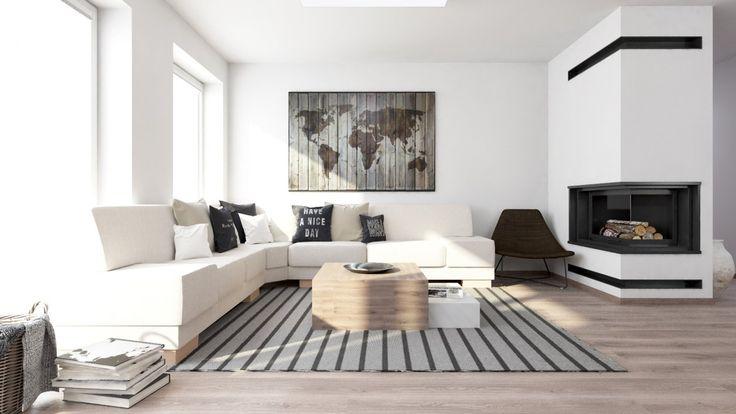 Minimalistické obývacie izby inspirace - Denná zóna v Rovinke | FAVI.sk