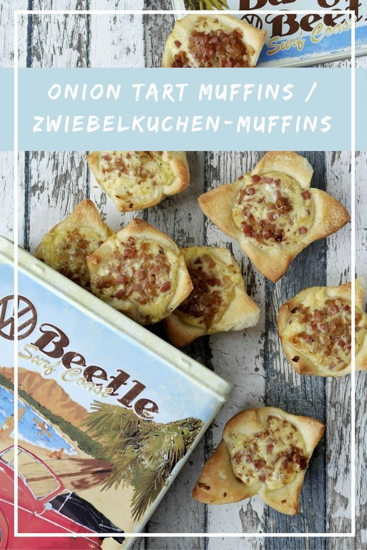 """These onion quiche muffins are the perfect snack on the road. If you´re looking for more delicious travel & snack recipes, make sure to check out the collaborative board """"Bloggers for Volkswagen"""": https://de.pinterest.com/volkswagen/food-bloggers-for-volkswagen/"""