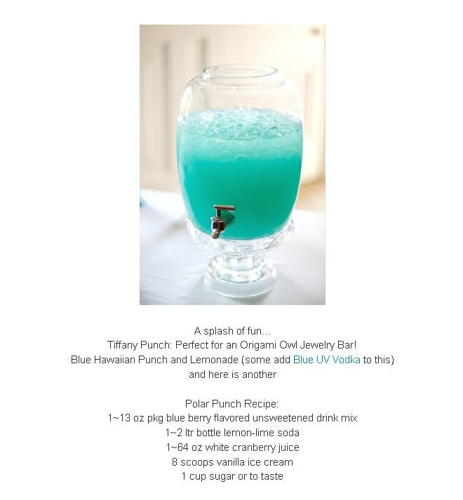 Origami Owl, Tiffany Blue Party Punch!