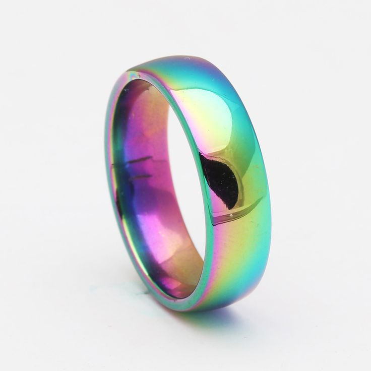 rainbow 316L stainless steel ring for women classic love forever engrave finger rings jewelry Fashion men wedding rings jewelry