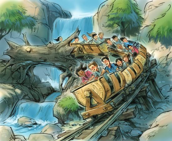 Snow white mine train