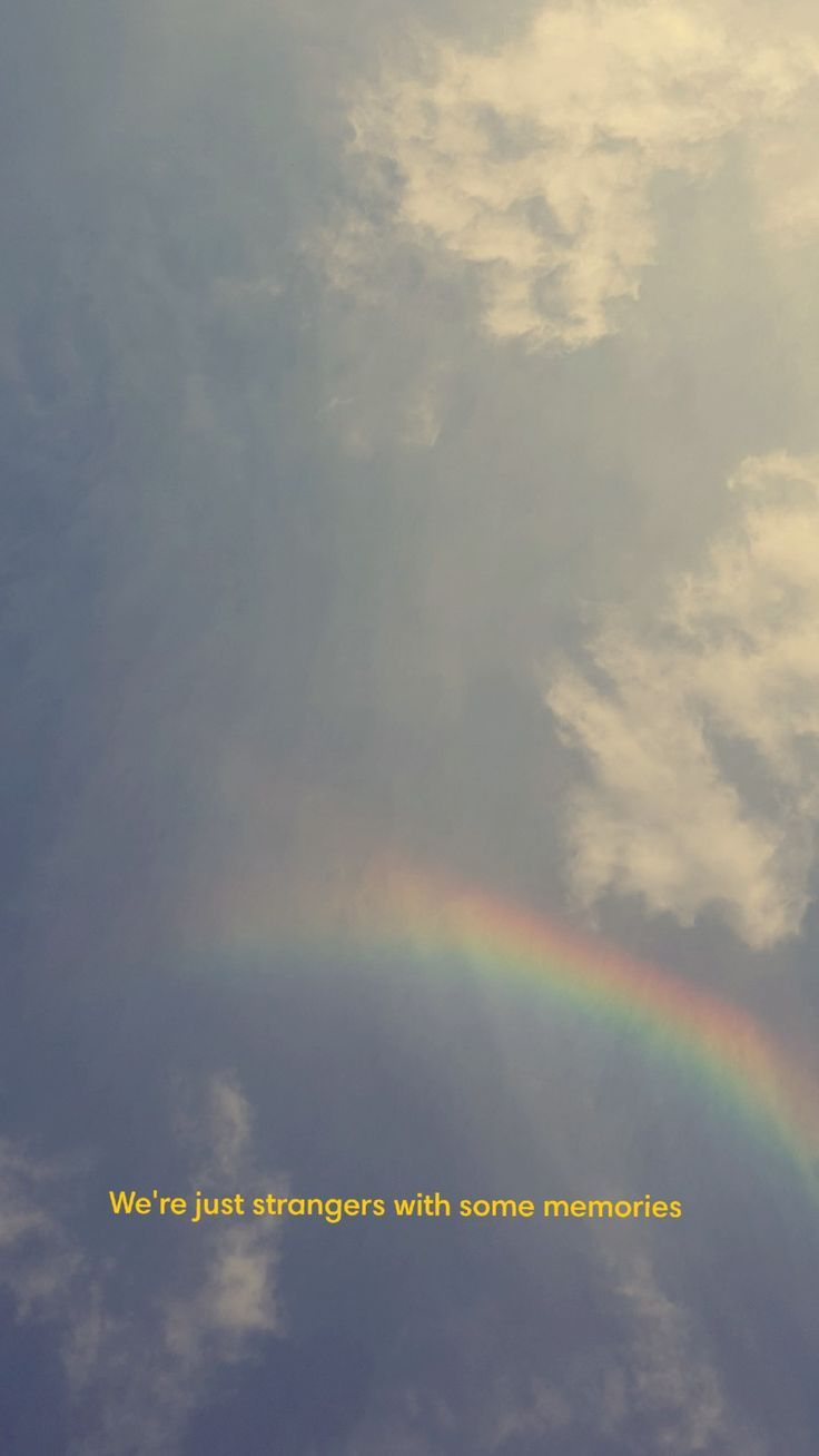quotes on wallpaper sky clouds rainbow,  #clouds #quotes #rainbow #wallpaper