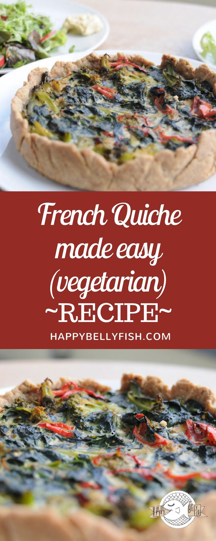 French Quiche made easy - vegetarian recipe: https://happybellyfish.com/recipes/french-quiche-made-easy/ Французский пирог Киш - рецепт: https://happybellyfish.com/ru/recipes/french-quiche-made-easy/ Quiche französischer Rezept