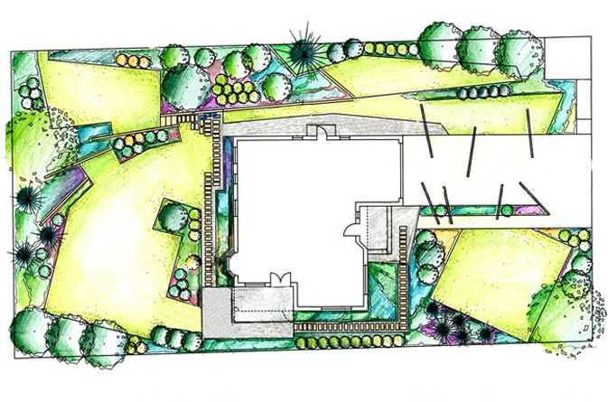 nowoczesne ogrody geometryczne - Szukaj w Google