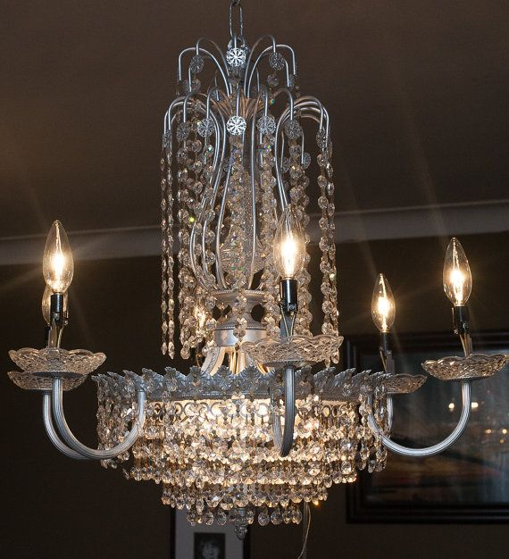 12 Light Crystal Chandelier by MatthewThomsonPhoto on Etsy, $350.00 #chandelier #lighting #decor