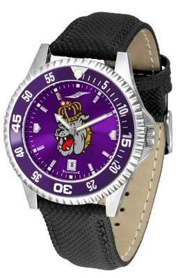 James Madison Dukes JMU NCAA Mens Leather Anochrome Watch by SunTime. $78.95. Officially Licensed James Madison Dukes Men's Leather Wristwatch. Men. AnoChrome Dial Enhances Team Logo And Overall Look. Poly/Leather Band. Adjustable Band. Showcase the hottest design in watches today! A functional rotating bezel is color-coordinated to compliment your favorite team logo. A durable long-lasting combination nylon/leather strap together with a date calendar round out this best-selling ...