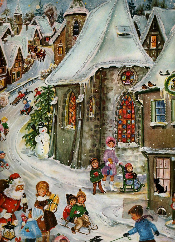 another vintage advent calendar.