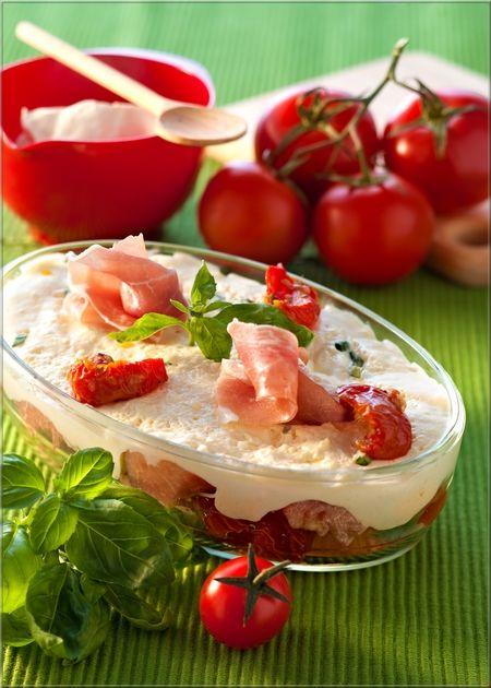 Tiramisù aux Tomates Confites et Jambon de Parme | A Vos Assiettes