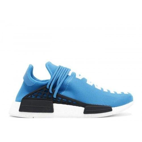 Adidas NMD Boost Salg - Adidas NMD Human Race Aqua Sort Hvite Treningssko Salg