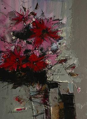 Scottish Artist James SOMERVILLE-Summer Flowers