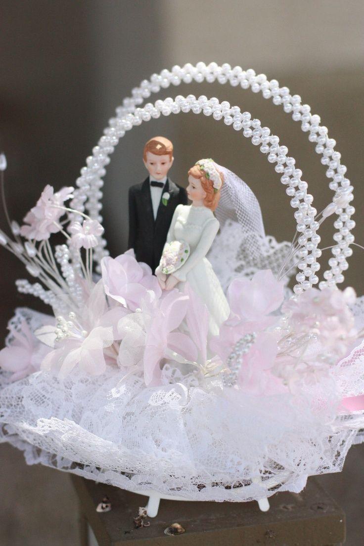 VINTAGE CAKE TOPPERS | Vintage wedding cake topper 1980s by ... | Vintage Wedding Cake Topper