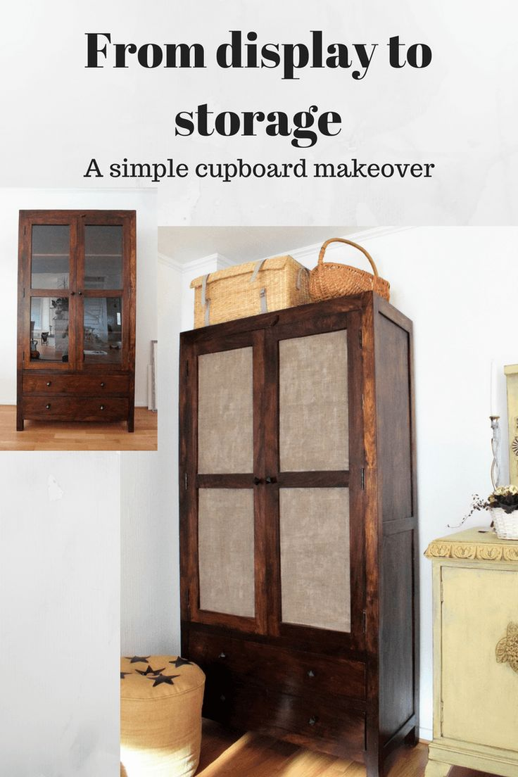 From display to storage. Try cupboard decoupage