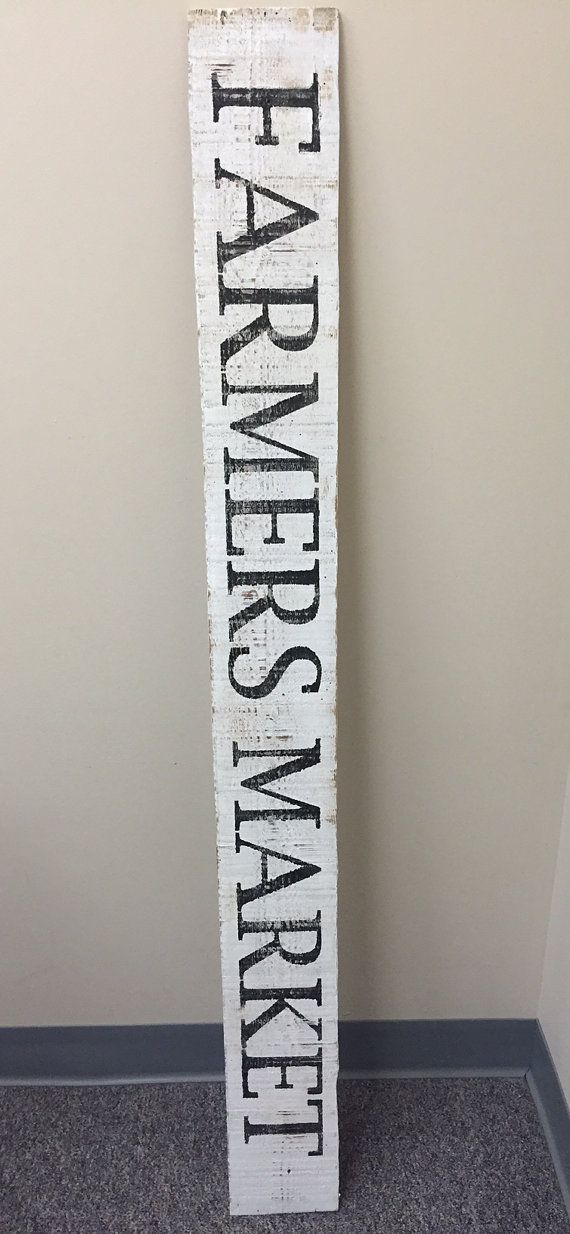 This Farmers Market Sign sign is hand painted, and made from reclaimed wood to give it a vintage look and feel. I paint all of my signs and