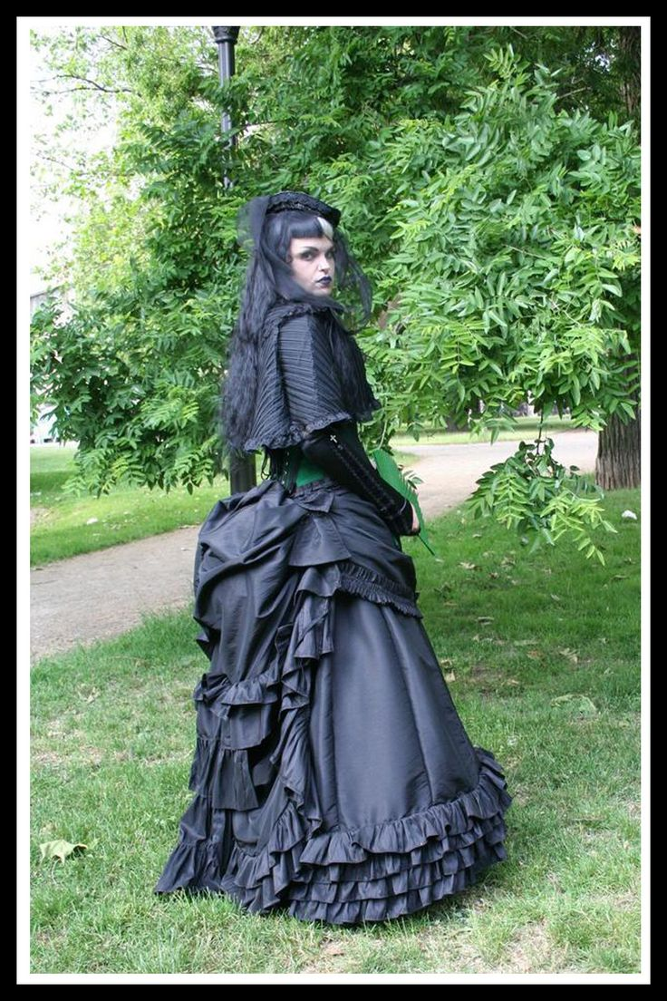 Victorian Gothic Wedding Dress Bustle Gown Bespoke Historical Bustle Dress