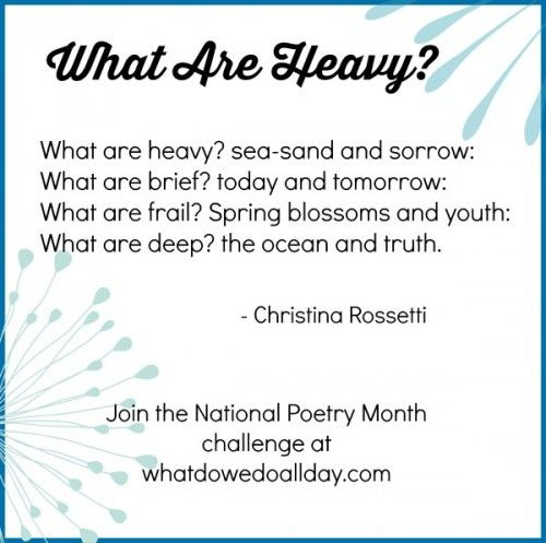 Christina Rossetti poem for National Poetry Month