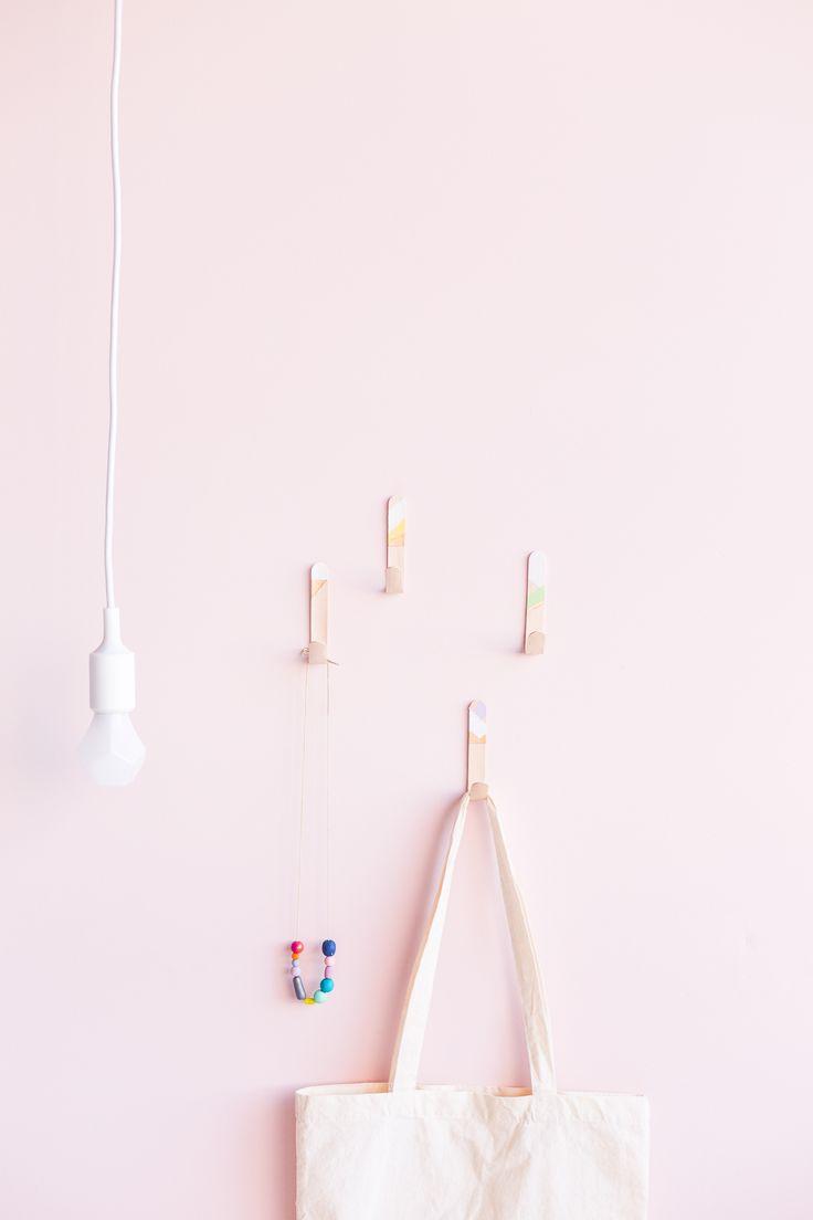 DIY Lollipop Stick Hooks