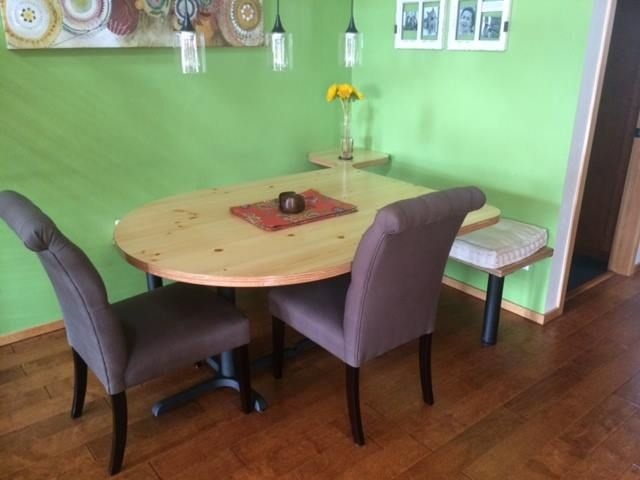 Check Out This Custom Dining Table, Using Our B2230 Bases! Click The Link  For