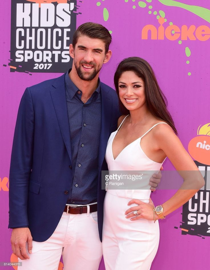 Olympic Swimmer Michael Phelps and wife Nicole Johnson attend the 2017 Nickelodeon Kids' Choice Sports Awards at Pauley Pavilion on July 13, 2017 in Los Angeles, California.