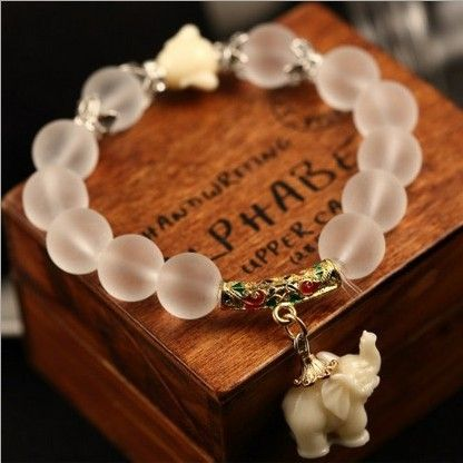 Natural matte crystal bracelets //Price: $9.95 & FREE Shipping //     #stones