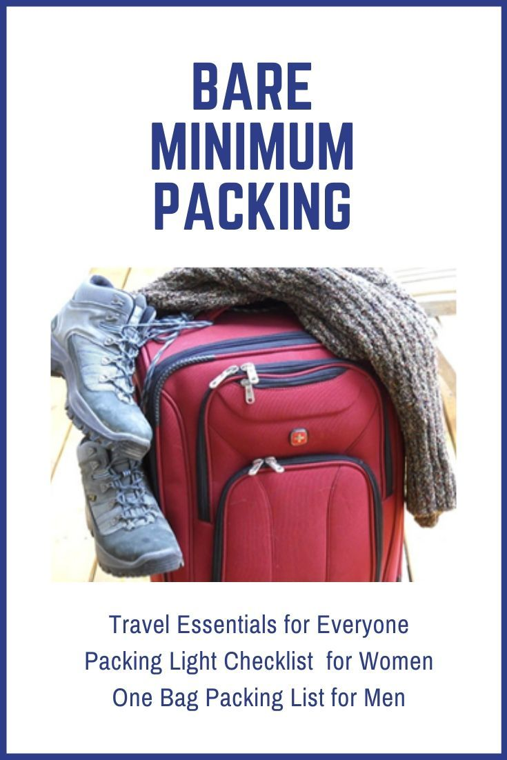 Packing List For Traveling Light Women S And Men S Lists Provided In 2020 Packing List For Travel Packing List Carryon Packing