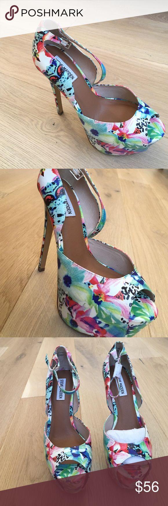 Heels Steeve madden heels.. Brand new, in original packaging, comfy, colorful beauties.. Steve Madden Shoes Heels