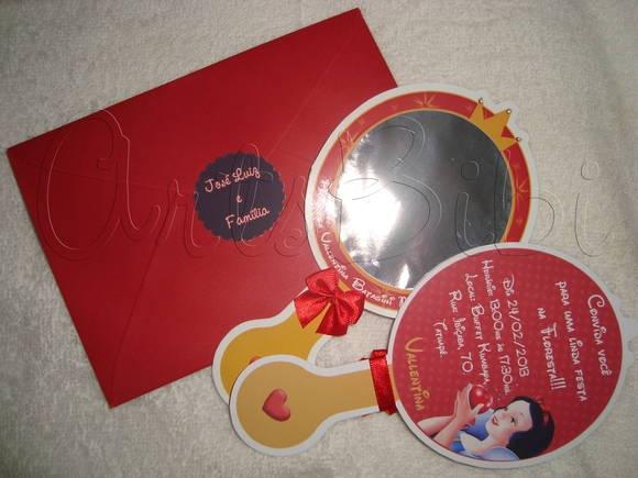 Snow White mirror invite