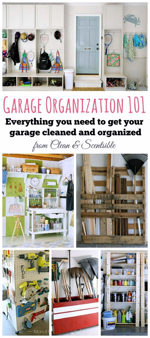 Awesome ideas to help you organize your garage and free printables to keep you on track!