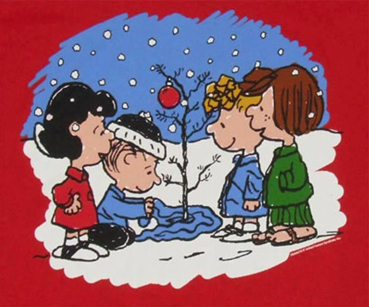 Charlie Brown's Christmas tree: I always loved how Linus got it looking so sweet.